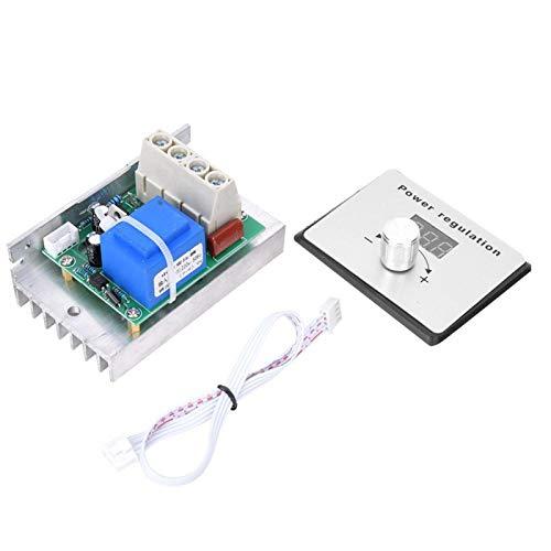 Regulador de voltaje SCR -AC 220V 5000W SCR Módulo regulador de voltaje digital Termostato atenuador 80A