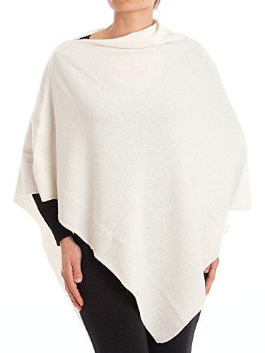 DALLE PIANE CASHMERE - Poncho aus Kaschmir-Gemisch - für Damen, Farbe: Weiß, Einheitsgröße