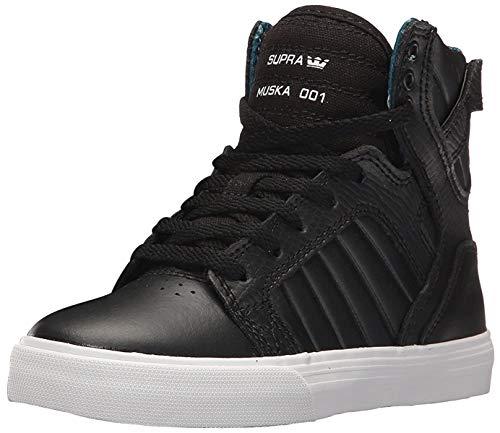 Supra Children Kids Skytop Black White Shoes Size 5