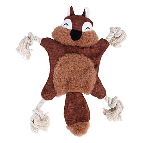 Liancany Hundespielzeug mit Quietschelement, kein Füllen, Knister-Kauspielzeug mit Baumwollseil für Welpen 2