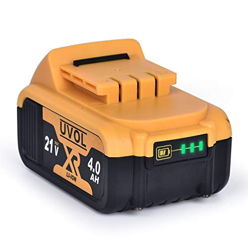 UVOL 21V 4Ah Lithium Battery, Replacement for UVOL Impact Wrench BX8501 & Reciprocating Saw BX8400