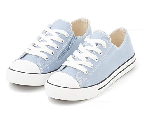 TEX - Zapatillas De Lona para Niña, Azul Claro, 38 EU