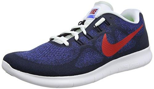 Nike Free RN 2017, Zapatillas de Correr Hombre, Multicolor (Obsidian/University Red-Racer Blue-Photo Blue 406), 49.5 EU