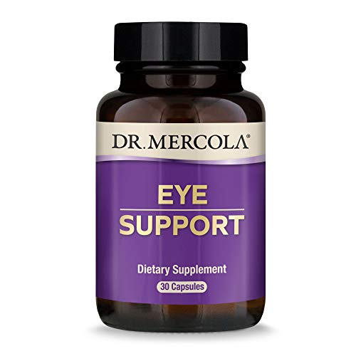 Dr. Mercola, Eye Support with 10 mg of Lutein Dietary Supplement, 30 Servings (30 Capsules), non GMO, Gluten Free