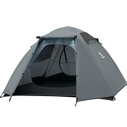 professionnel comparateur Tente de camping Bessport pour 4 et 5 personnes Tente dôme 2 couches ultra-légère, facile à installer… choix