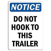 このトレーラーに引っ掛からないように注意してください。金属スズサイン通知街路交通危険警告耐久性、防水性、防錆性