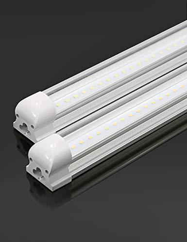 Atlaz LED Röhre 120cm Leuchtstoffröhre komplett mit Fassung, 18W 1900lm 6000K Kaltweiß, T8 LED Tube Röhrenlampe, durchverdrahtet und erweiterbar, Transparente Abdeckung