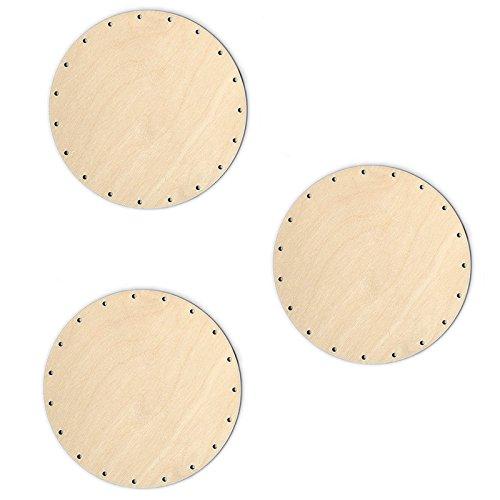 Zita's Creative 3X Korbboden, rund, 16cm für 3mm Rohr - Flechten, Korbflechten, Schilf Set, Peddigrohr, Flechtmaterial, Flechtset, Rattan