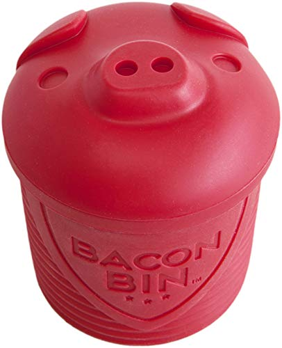 Talisman Designs 5300 Original Bacon Bin Grease Strainer and Storage - 1 Cup Capacity, Red