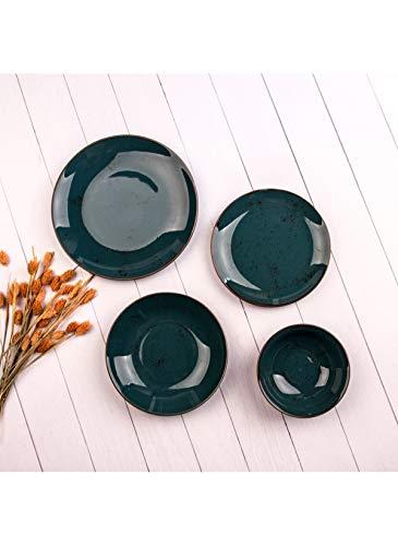 Marianna Rustik - Juego de vajilla (24 piezas, 24 cm, plato de servicio, 6 platos de postre de 19 cm, 6 platos de 19 cm, 6 cuencos de sopa de 14 cm)