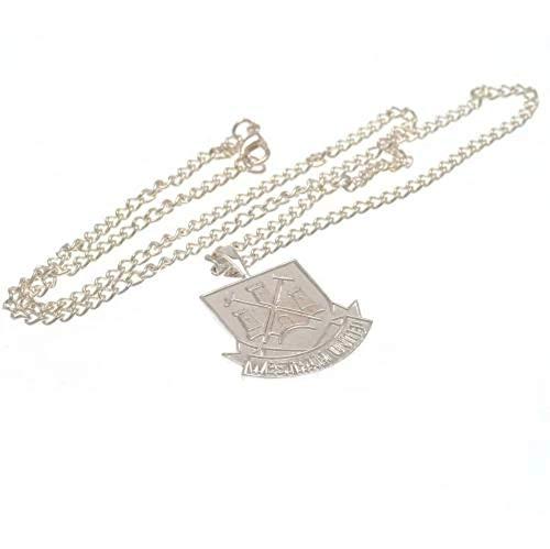 West Ham United F.C. West Ham United F. C. Silver Plated Pendant & Chain XL CT