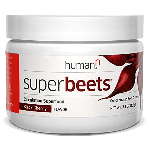 HumanN SuperBeets - Black Cherry Beet Root Powder - Nitric Oxide &...