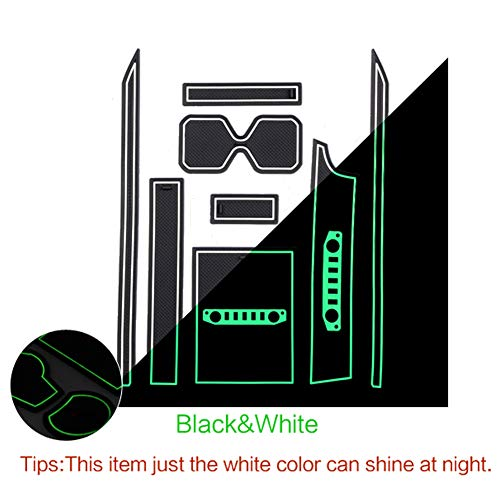 LFOTPP Jimny Sierra JB64 JB74 deurgleuf matten gate slot pad, rubber antislipmatten 8 stuks (wit)