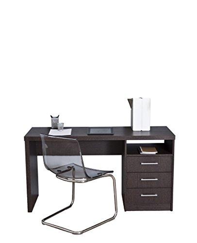 Topkit | Mesa de Escritorio Valencia 4040 | Medidas 73 x 140 x 50 cm | Escritorio con cajones | Mesa Ordenador | Mesa Estudio | Wengué