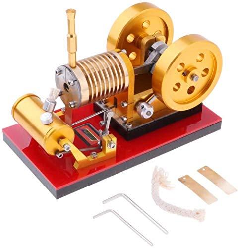 hsj LF- Toy Mini 200-2000RPM Flamme Licker Eater Doppel-Schwungrad Stirling-Motor Modell Motor Leistung Mechanism DIY Kits Spielzeug Lernen