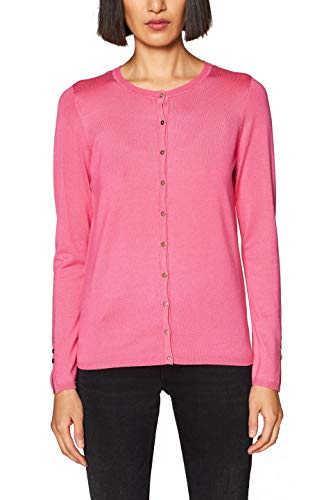 ESPRIT Collection Damen 999EO1I800 Strickjacke, Rosa (Pink Fuchsia 660), Small (Herstellergröße: S)