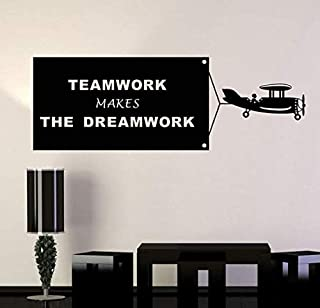 1 Pcs Stickers Muraux Teamwork Make Dreamwork Sticker Mural Pour Bureau Chambre Bureau Décoration Art Autocollants Muraux ...