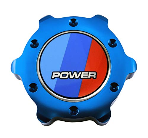 VMS RACING BLUE OIL CAP Power BBR Emblem in Billet Aluminum Compatible with E21 E30 E36 E46 E83 E90 E92 E93 M3 X3 SAV 3 Series 318i 320i 323i 325ci 325es 325iX 328i 335i 75-13 1975-2013