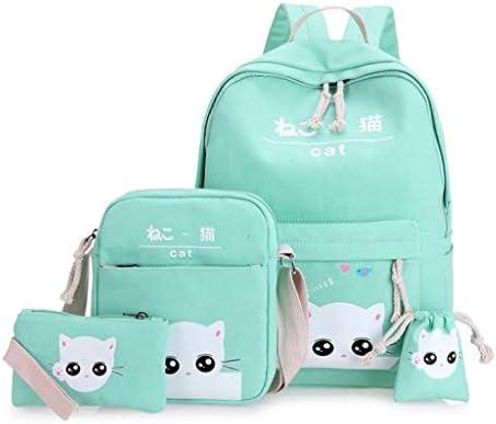 hainan Cat Backpacks Set for Teenage Girls and Student Kitty Printing Bookbag Cute School Bags product image