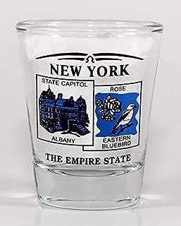 New York State Scenery Blue New Shot Glass