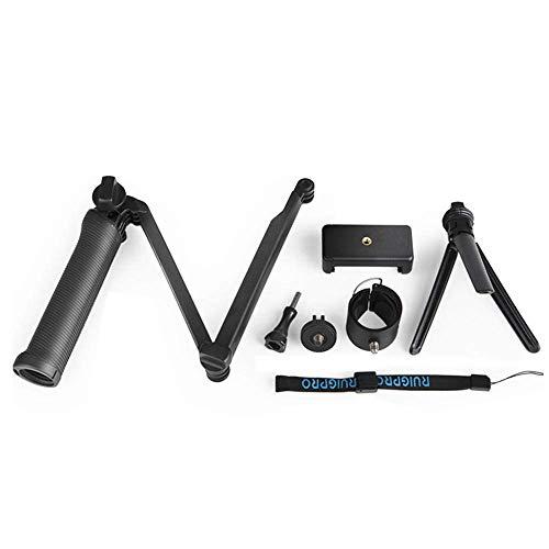 Burhetten Estabilizador de mano de trípode impermeable de 3 vías para Smartphone Yi/SJcam 7/6/5/4 cámara deportiva