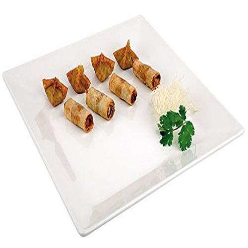APS à Paderno Monde Cuisine centimètre carré Blanc en mélamine Plateau, Dimensioni 18x18 cm
