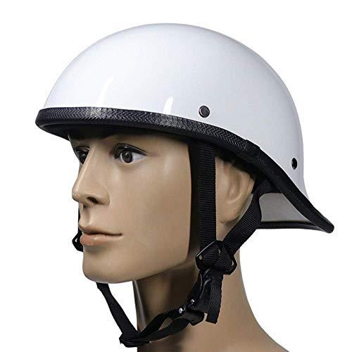 KAISIMYS Medio Casco de Motocicleta Unisex, Casco Retro de Media Cara con Carcasa de ABS antichoque, para Scooter de Moto de Verano, Aprobado por Dot