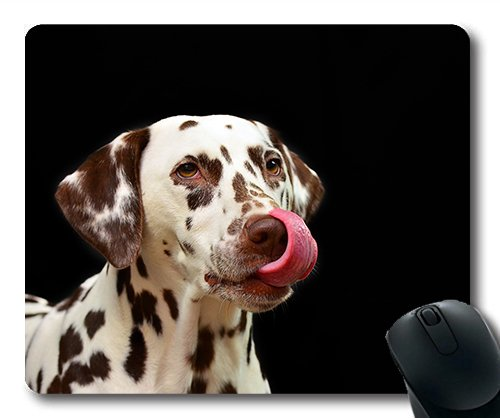 Gaming mouse pad mouse mat for mac and windows gamer Dog Dalmatians Pet Dog Breed Animal Portrait for women/men/kids sold by Yanteng
