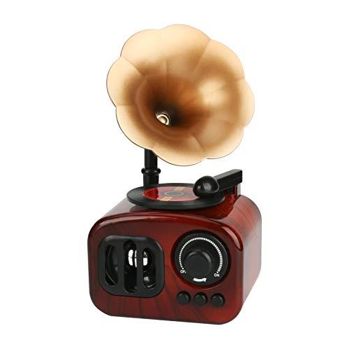 Achort Caja de música con manivela de Mano, diseño Retro fonógrafo, Cajas...