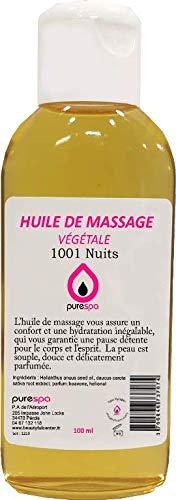 Huile de massage végétale parfum 1001 NUITS -100ml- Purespa By Purenail, Livraison gratuite en France