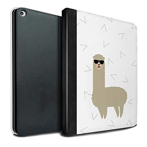 eSwish PU-Leder Hülle/Case/Brieftasche für Apple iPad Pro 12.9 2015/1st Gen Tablet/Coole Sonnenbrille Muster/Süßes Alpaka Kollektion