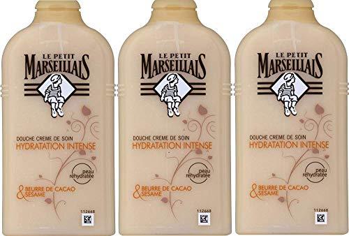 Le Petit Marseillais–doccia Burro di Cacao & sesamo del Marocco–250ml–Set di 3