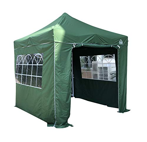 All Seasons Gazebos 2.5 x 2.5m Heavy Duty, Fully Waterproof Pop up Gazebo With 4 Premium Side Walls (Green)