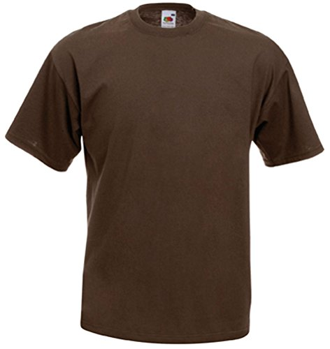 Fruit of the Loom Herren T-Shirt braun Chocolate Small