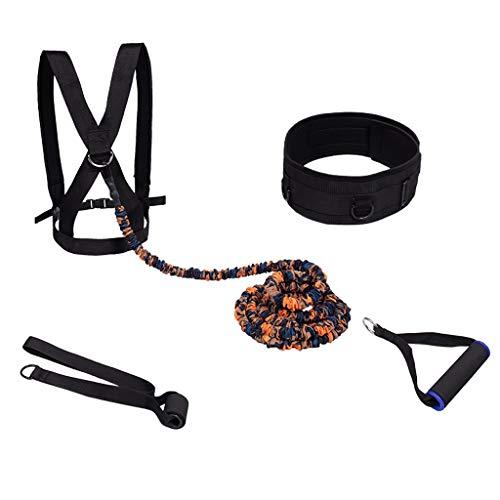 Xingdong Pista y Entrenamiento de Campo del Equipo de la Cintura Banda de Resistencia Sprint Tire de la Cuerda elástica Banda Que Corre la Aptitud de la Goma Durable (Size : 100 lbs 2 m)