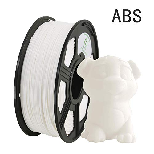 YOYI 3D Printer Filament,ABS Filament 1.75mm 1kg Spool Dimensional Accuracy +/- 0.03 mm,100% Europe Raw Material (white)