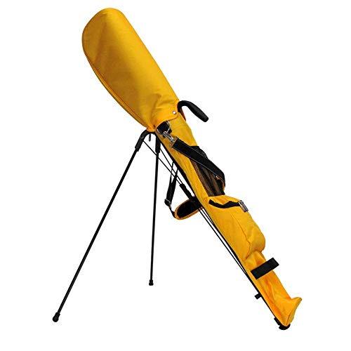 KAIGE Golftasche for Herren-Gelb-Standplatz Golftasche Leichter 2-Wege-Top - Abnehmbare Nette Rucksäcke, Hybrid Gehen Golftasche mit Ständern WKY