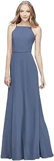 Chiffon High-Neck Bridesmaid Dress Style F19936