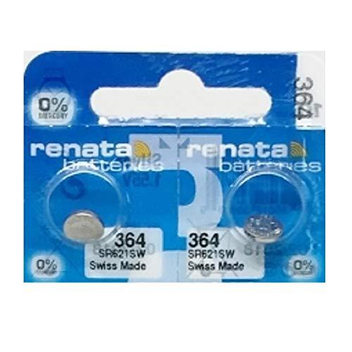 renata 2個 ボタン電池 1.55V (SR621SW) [並行輸入品]