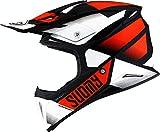 Suomy X-Wing Grip Casco Motocross Nero/Bianco/Arancione