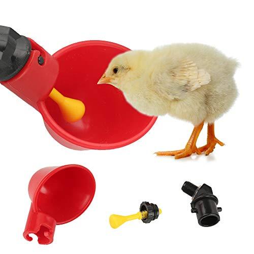 Zunate Geflügel Trinker Tasse,Huhn Fütterungsgeräte Wasserschale Kunststoff-Tränke Geflügel Wasser Trinkbecher aus hochwertigem Kunststoff,um Hühnern Immer frisches Wasser zu bieten,10 Stücke