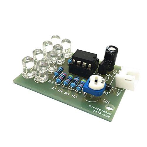 B Baosity LM358 Atemlampe 8 LED 5mm Blaue LED DIY Electronic Kit Suite