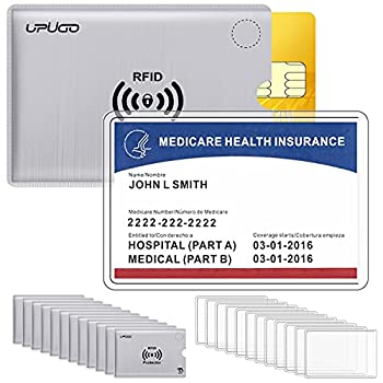 12 Pack New Medicare Card Protector Sleeves and 12 Pack RFID Blocking Card Sleeves for Insurance Social Security Metro License Credit Cards