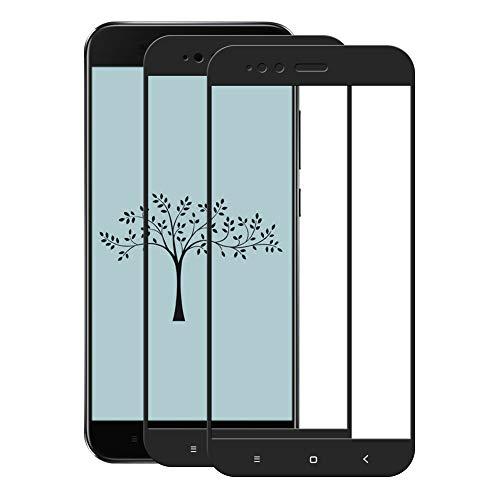 Cafwly 2 Unidades Protector de Pantalla para Xiaomi Mi A1 / 5X,Cristal Templado para Xiaomi Mi A1 / 5X [Alta Definicion] [Arañazos Resistente][Fcil de Instalacin]