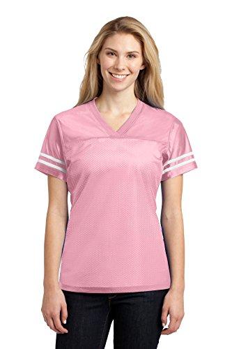 SPORT-TEK Women's PosiCharge Replica Jersey XL Light Pink/White