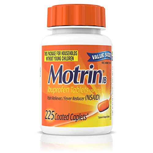 Motrin IB, Ibuprofen 200mg Tablets for Fever, Muscle Aches, Headache & Back Pain Relief, 225 ct.