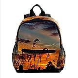 Mochilas para la escuela lindas bolsas de libros para niños niño adolescente niño moda mochila viaje portátil bolsa puesta de sol patrón