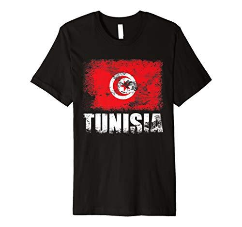 Tunesien Flagge T-Shirt   Tunesische Flagge Tee Geschenk