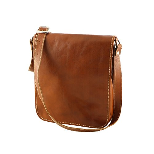 Herrentasche aus Leder - 2021 - Echtledertasche Lederfarbe 27 x 30 x 12 cm.