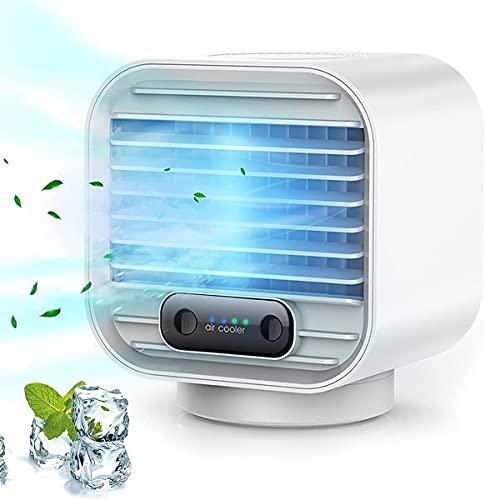 SFBOHEM Acondicionador De Aire Portátil, Refrigerador Y Humidificador De Aire Evaporativo Recargable Inalámbrico De Escritorio, 3 Velocidades, Adecuadas para Automóviles, Habitaciones, Oficinas